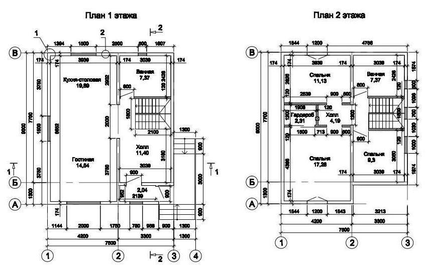 Проекты домов из сип панелей бесплатно чертежи 3